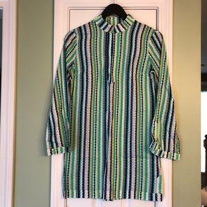 Tory Burch XS / 2 Multi Striped Cotton Tunic Top